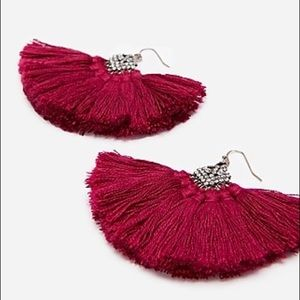 Express Rhinestone Tassel Earrings